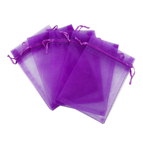 """24 Pack Organza Bags for Dried Lavender - Wedding, Birthday, Candy, Game, Party, Jewelery, Favor Pouches Wrap (3,5"""" X 5"""")"""
