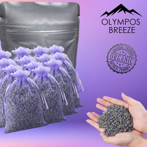 Olympos Breeze | Home Decoration, Natural Dried Lavender Scent Dry Flowers Sachets