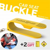NGLIFE Child Car Seat Belt Buckle Release Tool - Easy Unbuckler Key for Baby, Kids, Parents and Caregivers with Keychain